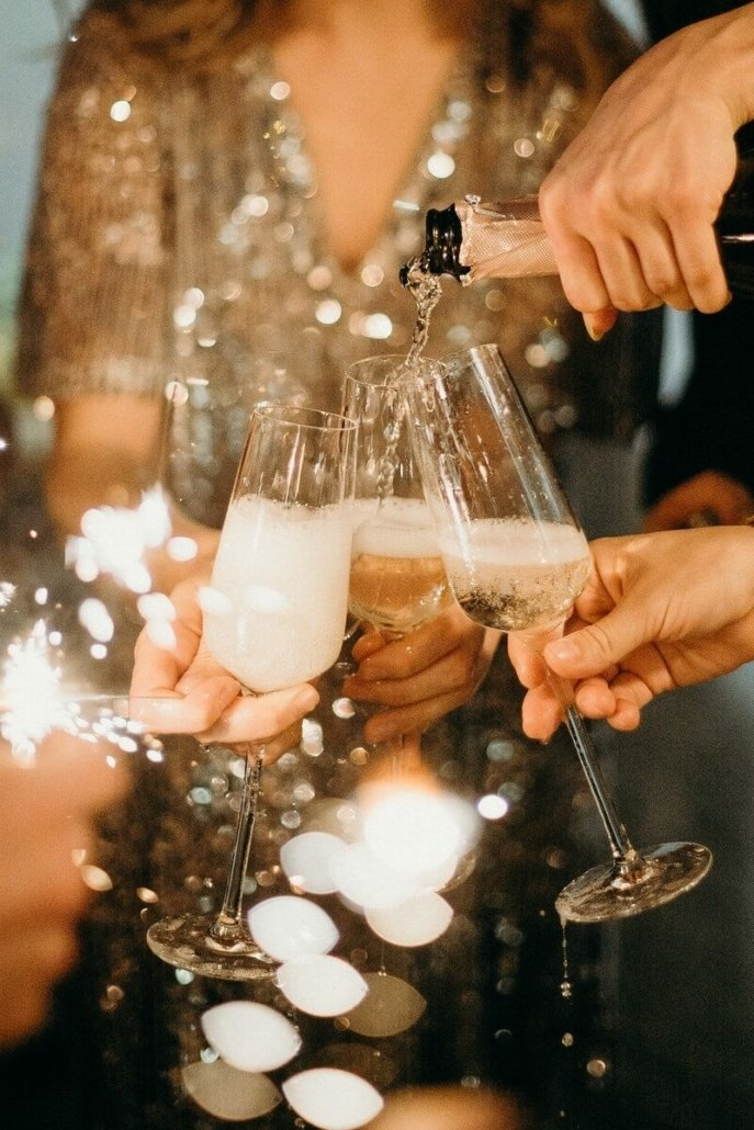 Champagne glasses - Package Silvestergala Parkhotel Nümbrecht